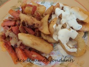 carottes et pommes de terre charlottes caram lis es la cassonade cuill re gourmande. Black Bedroom Furniture Sets. Home Design Ideas